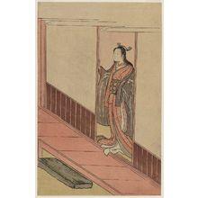 Suzuki Harunobu: Woman Standing in an Open Door - Museum of Fine Arts