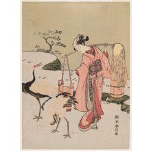 鈴木春信: Parody of Lin Heqing (Rinnasei) - ボストン美術館