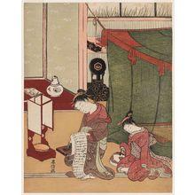 鈴木春信: Kamuro Dozing and Courtesan Reading a Letter - ボストン美術館