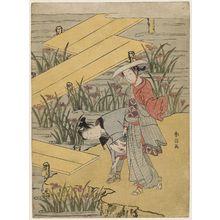 Suzuki Harunobu: Travellers at Yatsuhashi - Museum of Fine Arts