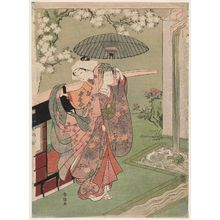 Suzuki Harunobu: A Modern Version of Ono no Komachi at Kiyomizu-dera Temple - Museum of Fine Arts