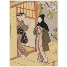 Suzuki Harunobu: Lovers Meeting on a Spring Evening - Museum of Fine Arts