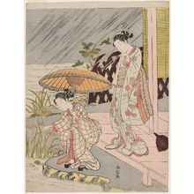 Suzuki Harunobu: Picking Iris in the Rain - Museum of Fine Arts