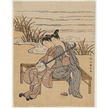 鈴木春信: Couple Playing a Shamisen Together - ボストン美術館