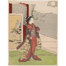 鈴木春信: Woman Gazing at the Moon - ボストン美術館