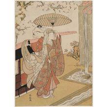 鈴木春信: A Modern Version of Ono no Komachi at Kiyomizu-dera Temple - ボストン美術館