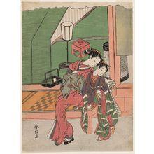 鈴木春信: Courtesan Hugging a Kamuro - ボストン美術館