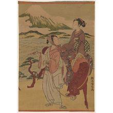鈴木春信: Parody of Narihira's Journey to the East - ボストン美術館