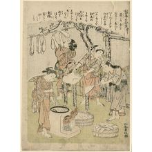 Kitao Shigemasa: No. 10, from the series Silkworm Cultivation (Kaiko yashinai gusa) - Museum of Fine Arts