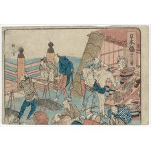 柳川重信: Nihonbashi, from an untitled series of the Fifty-three Stations of the Tôkaidô Road - ボストン美術館