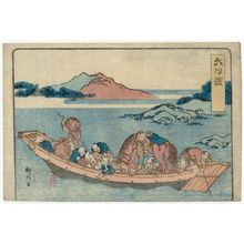 柳川重信: The Rokugô Ferry at Kawasaki Station (Rokugô no watari), from an untitled series of the Fifty-three Stations of the Tôkaidô Road - ボストン美術館