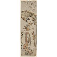 Suzuki Harunobu: The Heron Maiden (Sagi musume) - Museum of Fine Arts