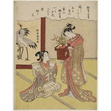 Suzuki Harunobu: The Pine Tree Is a Pledge of a Thousand Years (Matsu wa senzai no chigiri) - Museum of Fine Arts