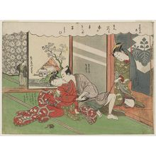 Suzuki Harunobu: No. 20 from the erotic series The Amorous Adventures of Mane'emon (Fûryû enshoku Mane'emon) - Museum of Fine Arts