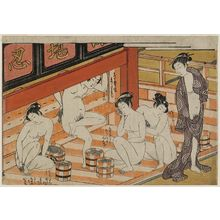 Isoda Koryusai: Interior of a Bathhouse - Museum of Fine Arts