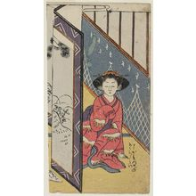 Suzuki Harunobu: Young Woman Eavesdropping on Lovers - Museum of Fine Arts