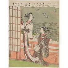Shiba Kokan: The Jewel River of Plovers (Chidori no Tamagawa), from an untitled series of Six Jewel Rivers (Mu Tamagawa) - Museum of Fine Arts