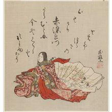 Komatsuken: Akazome Emon, from an untitled series of female poets - ボストン美術館