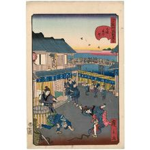 歌川広景: No. 30, Yonezawa-machi in Ryôgoku (Ryôgoku Yonezawa-machi), from the series Comical Views of Famous Places in Edo (Edo meisho dôke zukushi) - ボストン美術館