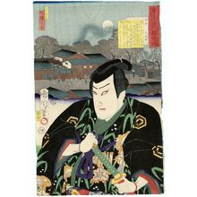 Toyohara Kunichika: Fuchû: Actor as Teranishi Kanshin, from the series The Tôkaidô Road: One Look Worth a Thousand Ryô (Tôkaidô hitome senryô) - Museum of Fine Arts