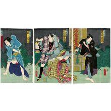 豊原国周: Actors Bandô Hikosaburô (R), Sawamura Tanosuke (C), and Seki Sanjurô (L) - ボストン美術館