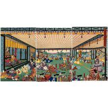 歌川貞秀: Takeda-ke yûshôgun hyôtei (hyôjo?) no zu - ボストン美術館