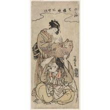 Isoda Koryusai: Ebisu, from the series Fashionable Amusements of the Seven Gods of Good Fortune (Fûryû Shichifukujin asobi) - Museum of Fine Arts
