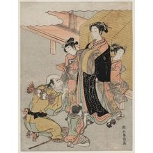 Isoda Koryusai: Pilgrims Bowing to a Courtesan - Museum of Fine Arts