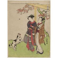 磯田湖龍齋: Dog, from the series Fashionable Twelve Signs of the Zodiac (Fûryû jûnishi) - ボストン美術館