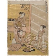 磯田湖龍齋: Food, from the series Food, Clothing and Shelter in Fashionable Sketches (Fûryû ishokujû ryakuzu) - ボストン美術館