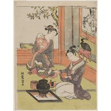磯田湖龍齋: Guo Ju (Kaku Kyo), from the series Fashionable Japanese Versions of the Twenty-four Paragons of Filial Piety (Fûryû Yamato nijûshikô) - ボストン美術館
