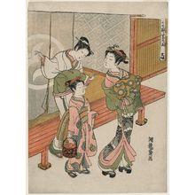 磯田湖龍齋: Osaka, from the series Pleasure Quarters of the Three Capitals (Mitsu no miyako sato no iro) - ボストン美術館