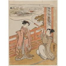 Isoda Koryusai: Young Couple with Telescope - Museum of Fine Arts