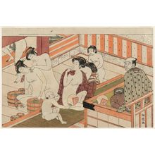 Isoda Koryusai: In the Public Bath House - Museum of Fine Arts
