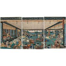 Utagawa Sadahide: The Brave Generals of the Takeda Clan... (Takeda ke yûshôgun ... no zu) - Museum of Fine Arts