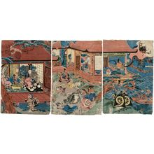 Utagawa Sadahide: The Story of the Earth Spider (Tsuchigumo) - Museum of Fine Arts