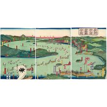 Utagawa Sadahide: (Chôshû Dannoura Akamagaseki kassen) - Museum of Fine Arts