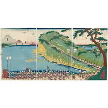Utagawa Sadahide: View of Satta Pass on the Tôkaidô Road (Tôkaidô Satta tôge no kei) - Museum of Fine Arts