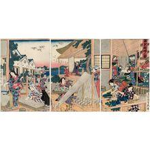Utagawa Sadahide: Kaiko kashokufu no zu - Museum of Fine Arts