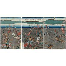 歌川貞秀: Kawanakajima ogassen Echigo-gata no zu - ボストン美術館
