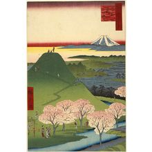 歌川広重: New Fuji, Meguro (Meguro Shin-Fuji), from the series One Hundred Famous Views of Edo (Meisho Edo hyakkei) - ボストン美術館