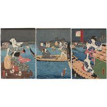 Utagawa Kunisada II: Amagoi, Nana Komachi Azuma fûzoku - Museum of Fine Arts
