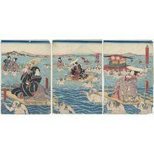 Utagawa Kunisada II: Oi River - Museum of Fine Arts