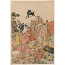 Kitao Masanobu: Young Women Arranging Flowers - ボストン美術館