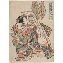 Kitao Masayoshi: (Hôraku no mai), from the series Collection of Pictures of Current Dances (Imayô odori ezukushi) - Museum of Fine Arts