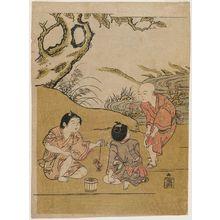 Morino Sôgyoku: Boys Playing with Crabs - Museum of Fine Arts
