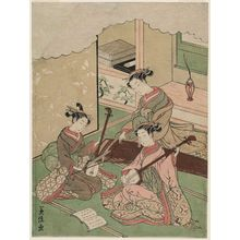 山本義信: Sankyoku Ensemble: Women Playing Koto, Shamisen, and Kokyû - ボストン美術館