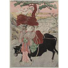 Kitao Shigemasa: Ôharame and Black Ox - Museum of Fine Arts