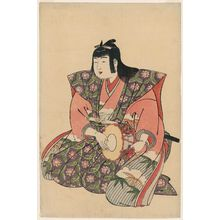 Kitao Shigemasa: Large Hand Drum, from an untitled set of Five Musicians (Gonin-bayashi) - Museum of Fine Arts