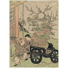 Kitao Shigemasa: Chinese Boys and Flower Cart - Museum of Fine Arts